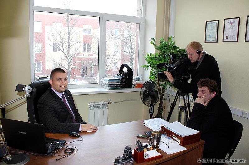 ТВ-съемки для Утро России